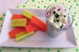 Fromage frais au radis et concombre