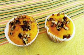 Muffin au potiron et noix de pécan