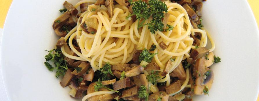 Spaghettis Aux Champignons et Seitan