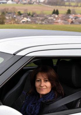 Vera Cherbuin en route pour une consultation