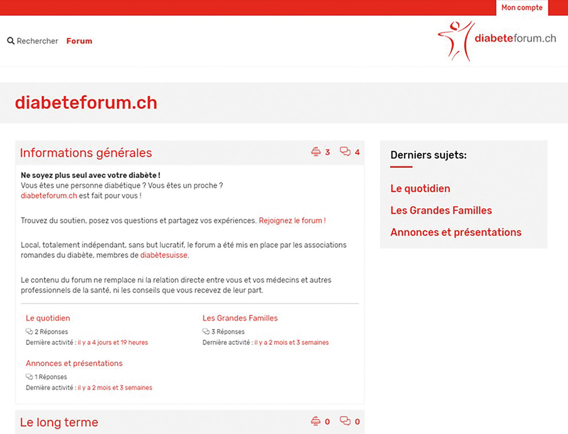 Capture d'écran de la page d'accueil du site