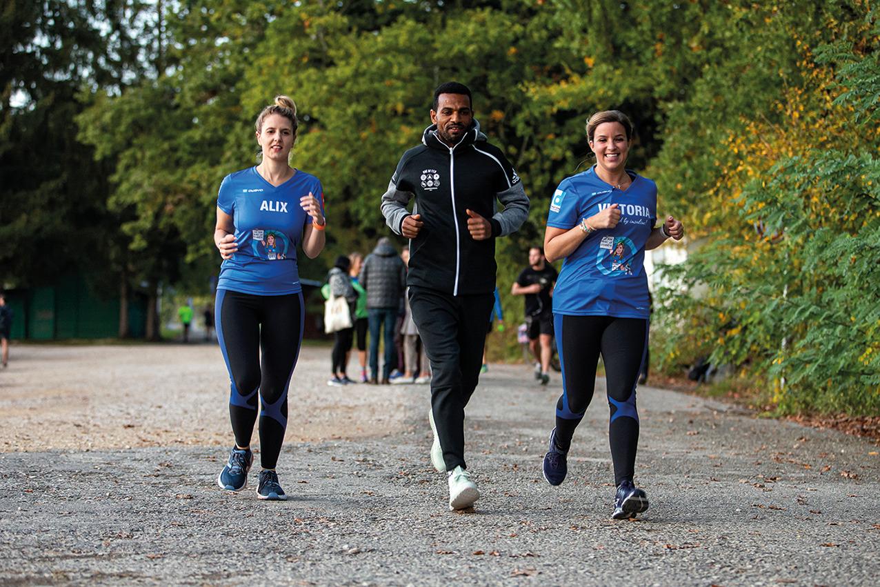Entraînement de luxe avec le marathonien suisse Tadesse Abraham © FRD