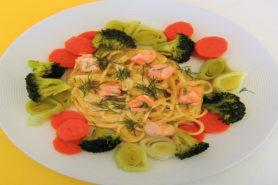 Spaghetti saumon